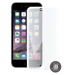 ScreenShield ochrana displeje Tempered Glass pro iPhone 6, White (kovový okraj)