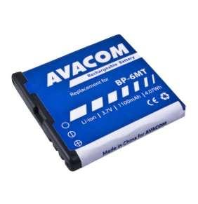 Baterie AVACOM GSNO-BP6MT-S1100A do mobilu Nokia E51, N81, N81 8GB, N82, Li-Ion 3,6V 1100mAh