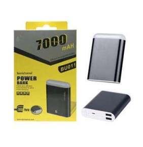 Aligator Power Bank PLUS, 7000mAh, se svítilnou, 2x USB výstup, (BU011), black