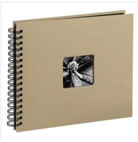 Hama album klasický špirálový FINE ART 28x24 cm, 50 strán, taupe