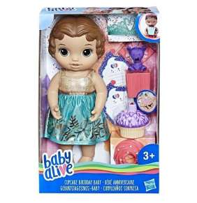 Hasbro Baby Alive-Baby Alive Narozeninová tmavovlasá panenka