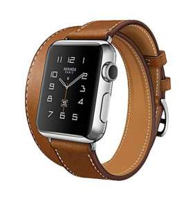 HOCO remienok Mix and Match pre Apple Watch 42/44 mm - Brown Leather