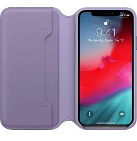 Apple iPhone XS Max Leather Folio - Lilac