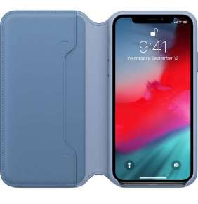 Apple iPhone XS Max Leather Folio - Cornflower