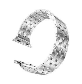HOCO remienok Linear Edition pre Apple Watch 38/40 mm - Silver