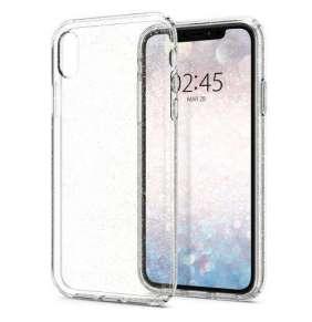 Spigen kryt Liquid Crystal Glitter pre iPhone XR - Crystal Quartz