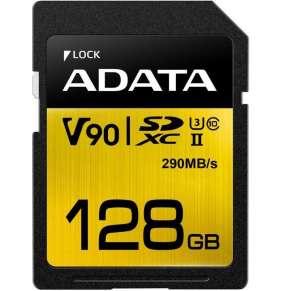 ADATA SDXC karta 128GB UHS-II U3 Class 10, Premier One (R: 290MB / W: 260MB)