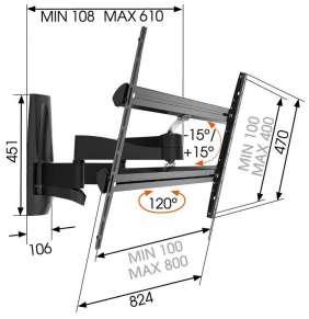 Robustní pohyblivý LCD držák Vogel´s WALL 3450