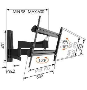 Robustní pohyblivý LCD držák Vogel´s WALL 3350