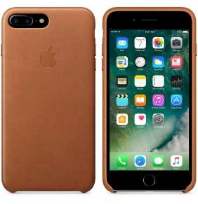 Apple iPhone 7 / 8 Plus Leather Case - Saddle Brown