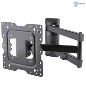 4World Otočný a sklopný držiak pre LCD 15''-43''  nosnosť max 40kg BLK