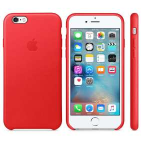 Apple iPhone 6s Leather Case Rose Red