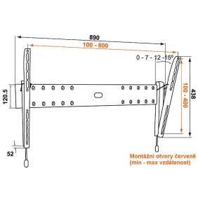Vogel´s PHW200L sklopný nástěnný držák