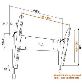 Vogel´s PHW200M sklopný nástěnný držák