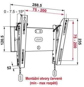 Vogel´s PHW200S sklopný nástěnný držák