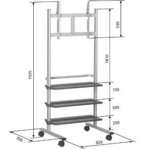 Vogel´s Pojízdný stojan na LCD PB 175,výška 1925mm