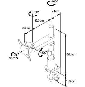 Vogel´s stolní stojan PFD 8522, 13kg, 2 klouby