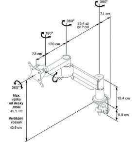 Vogel´s stolní stojan PFD 8543, 11 kg, 3 klouby