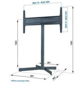 "Vogel´s Podlahový stojan na LCD 32""-50""  EFF 8330"