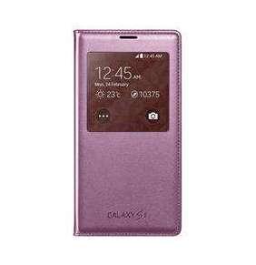 Samsung flipové púzdro s oknom pre Galaxy S5, Ružové