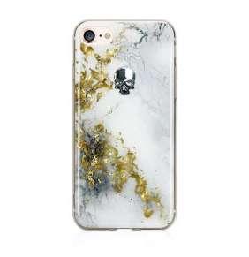 Swarovski kryt Treasure pre iPhone 8 - Alabaster/Silver Skull