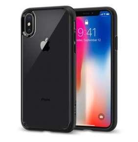 Spigen kryt Ultra Hybrid pre iPhone X/XS - Matte Black