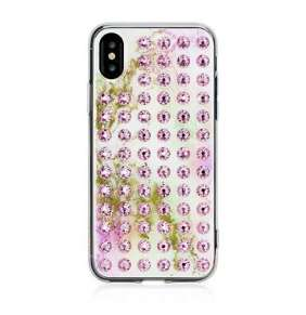 Swarovski kryt Extravaganza pre iPhone X/XS - Unicorn Light Rose