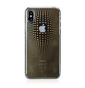 Swarovski kryt Warp pre iPhone X/XS - Deluxe Gold