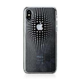 Swarovski kryt Warp pre iPhone X/XS - Deluxe Silver