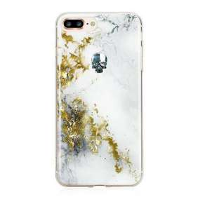 Swarovski kryt Treasure pre iPhone 8 Plus - Alabaster/Silver Skull