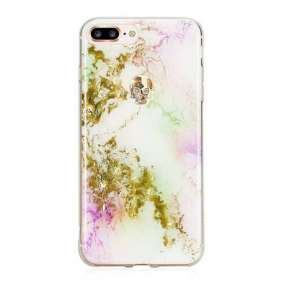 Swarovski kryt Treasure pre iPhone 8 Plus - Unicorn/Gold Skull