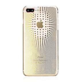 Swarovski kryt Warp pre iPhone 8 Plus - Deluxe Gold
