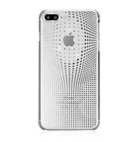 Swarovski kryt Warp pre iPhone 8 Plus - Deluxe Silver