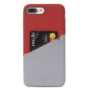 Decoded kryt Leather Case pre iPhone 8 Plus/7 Plus/6s Plus - Red/Grey