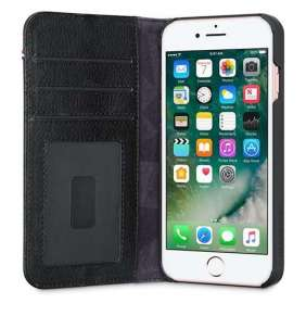 Decoded puzdro Leather Wallet Case 2 pre iPhone 8/7/6s - Black