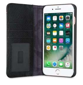 Decoded puzdro Leather Wallet Case 2 pre iPhone 8 Plus/7 Plus/6s Plus - Black