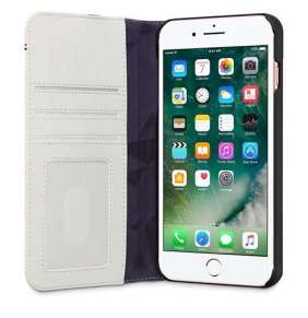 Decoded puzdro Leather Wallet Case 2 pre iPhone 8 Plus/7 Plus/6s Plus - Grey