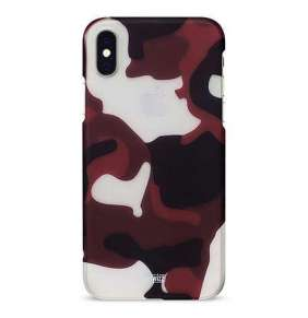 Artwizz kryt Camouflage Clip pre iPhone XS Max - Red