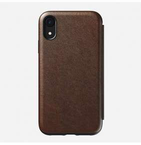 Nomad puzdro Rugged Folio pre iPhone XR - Rustic Brown Leather