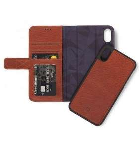 Decoded puzdro Leather Detachable Wallet pre iPhone XR - Brown