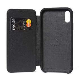 Decoded puzdro Leather Slim Wallet Case pre iPhone XS Max - Black