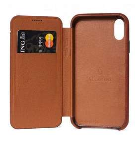 Decoded puzdro Leather Slim Wallet Case pre iPhone XR - Brown