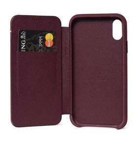 Decoded puzdro Leather Slim Wallet Case pre iPhone XR - Purple