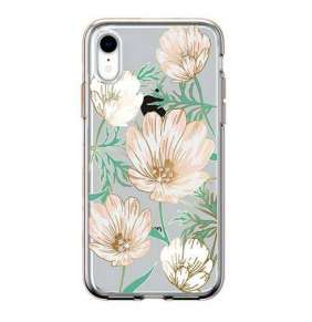 Comma kryt Magnolia Crystal Flower Series pre iPhone XR - White