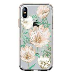 Comma kryt Magnolia Crystal Flower Series pre iPhone XS Max - White
