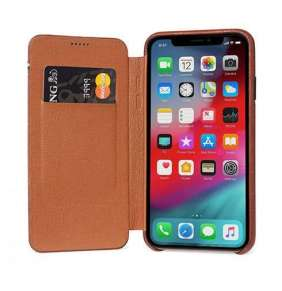 Decoded puzdro Leather Slim Wallet Case pre iPhone XS/X - Brown