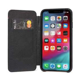 Decoded puzdro Leather Slim Wallet Case pre iPhone XS/X - Black