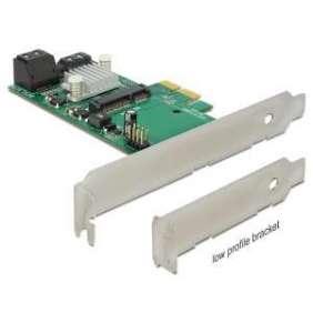Delock PCI Express Karta   Hybrid 3 x interní SATA 6 Gb/s + 1 x interní mSATA