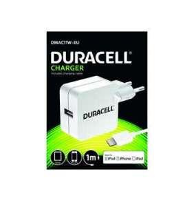 Duracell USB Nabíječka pro tablety & telefony 2,4A bílá včetně kabelu Lightning