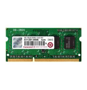 Transcend paměť 4GB DDR3 SO-DIMM 1333Mhz CL9 1Rx8